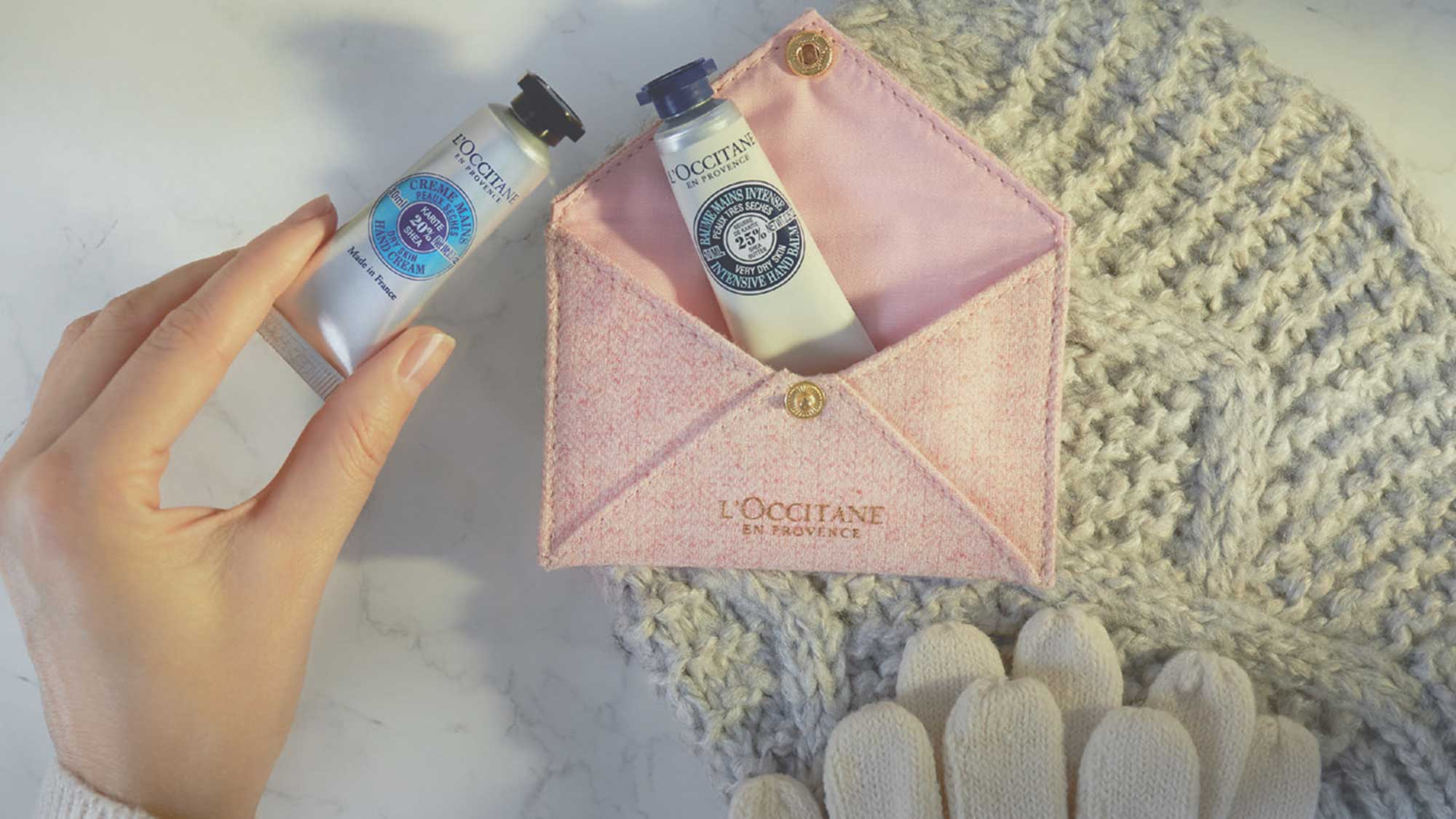 FREE L'Occitane handcare duo and soap just for you