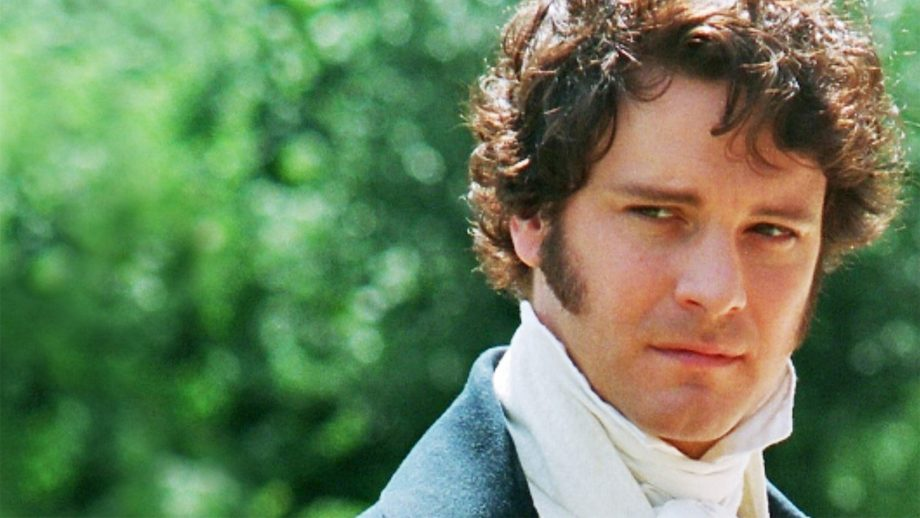 colin firth mr darcy bbc adapatation of jane austen book pride and prejudice