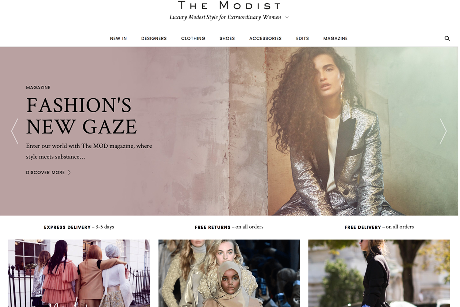 A fashion website - The Team Say The Site Is Dedicated To Women Who Dress To Express Their Style In A Contemporary Fashionable Yet Modest Manner