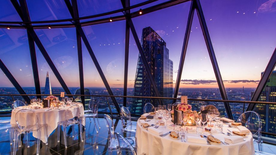 Food With A View At Searcy S Gherkin 39th Floor Restaurant