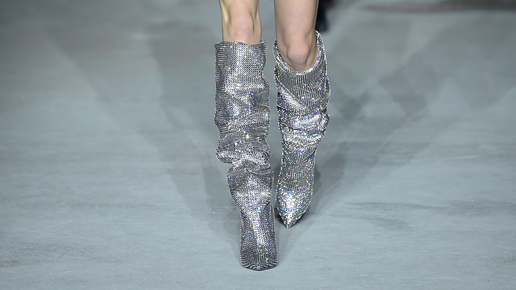 Saint Laurent S Glitter Boots Are What Dreams Are Made Of