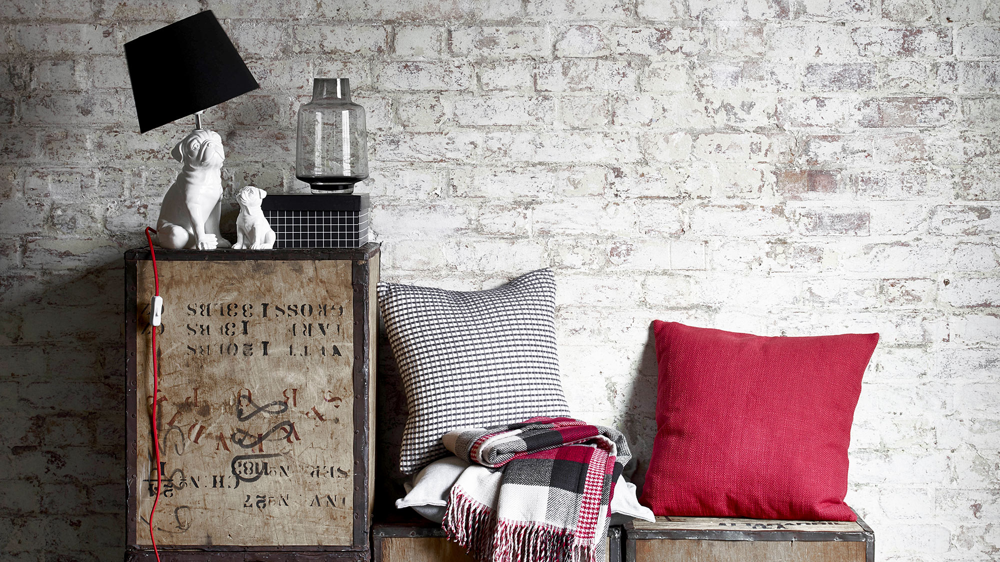 Give your living room a bold new slant with these urban chic essentials