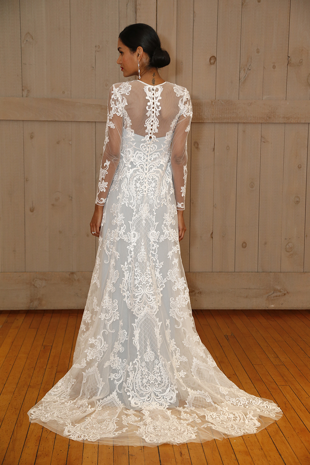 The most beautiful wedding dresses from bridal fashion week the davids bridal lace wedding dress ombrellifo Gallery