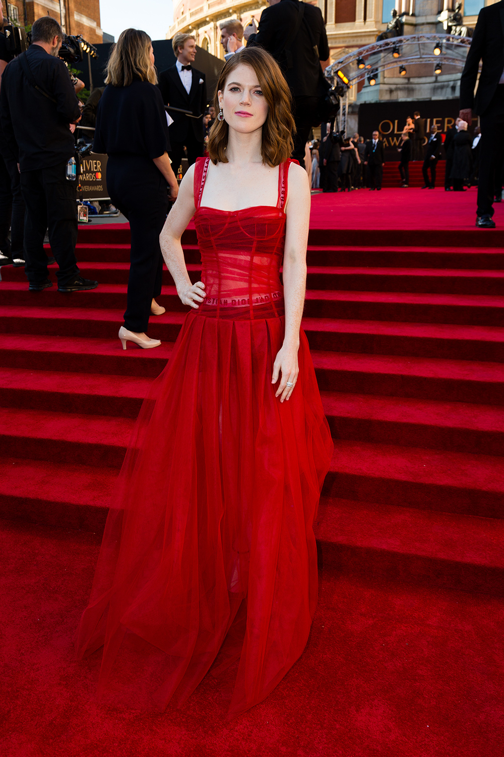 Rose Leslie Won The Olivier Awards With Her Dior Gown