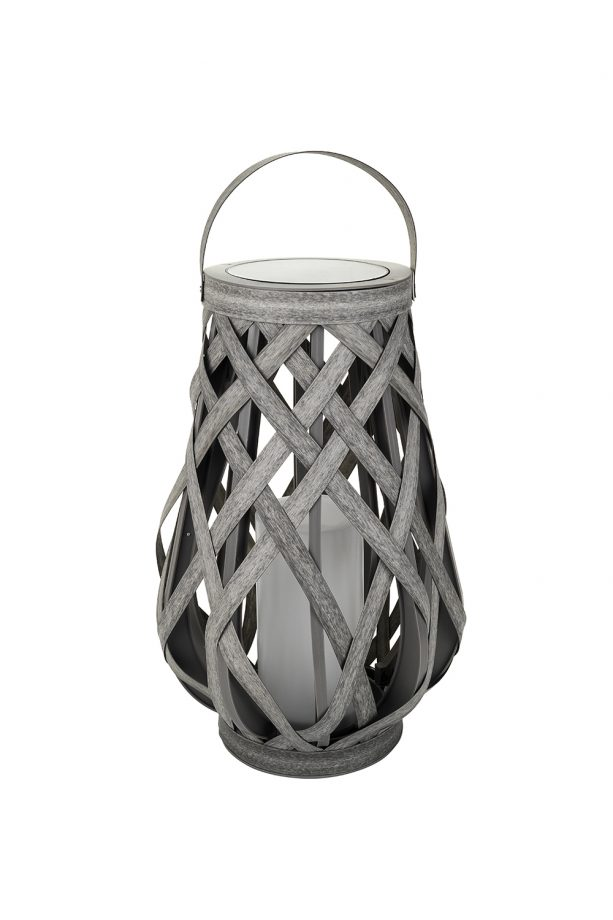 Solar Powered Rattan Lantern 28