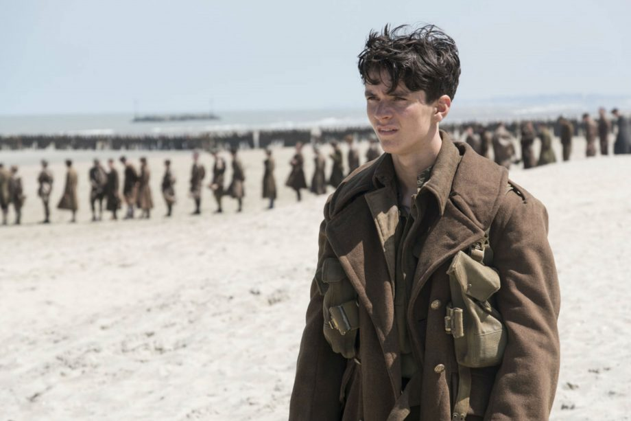 Actor Fionn Whitehead in Dunkirk