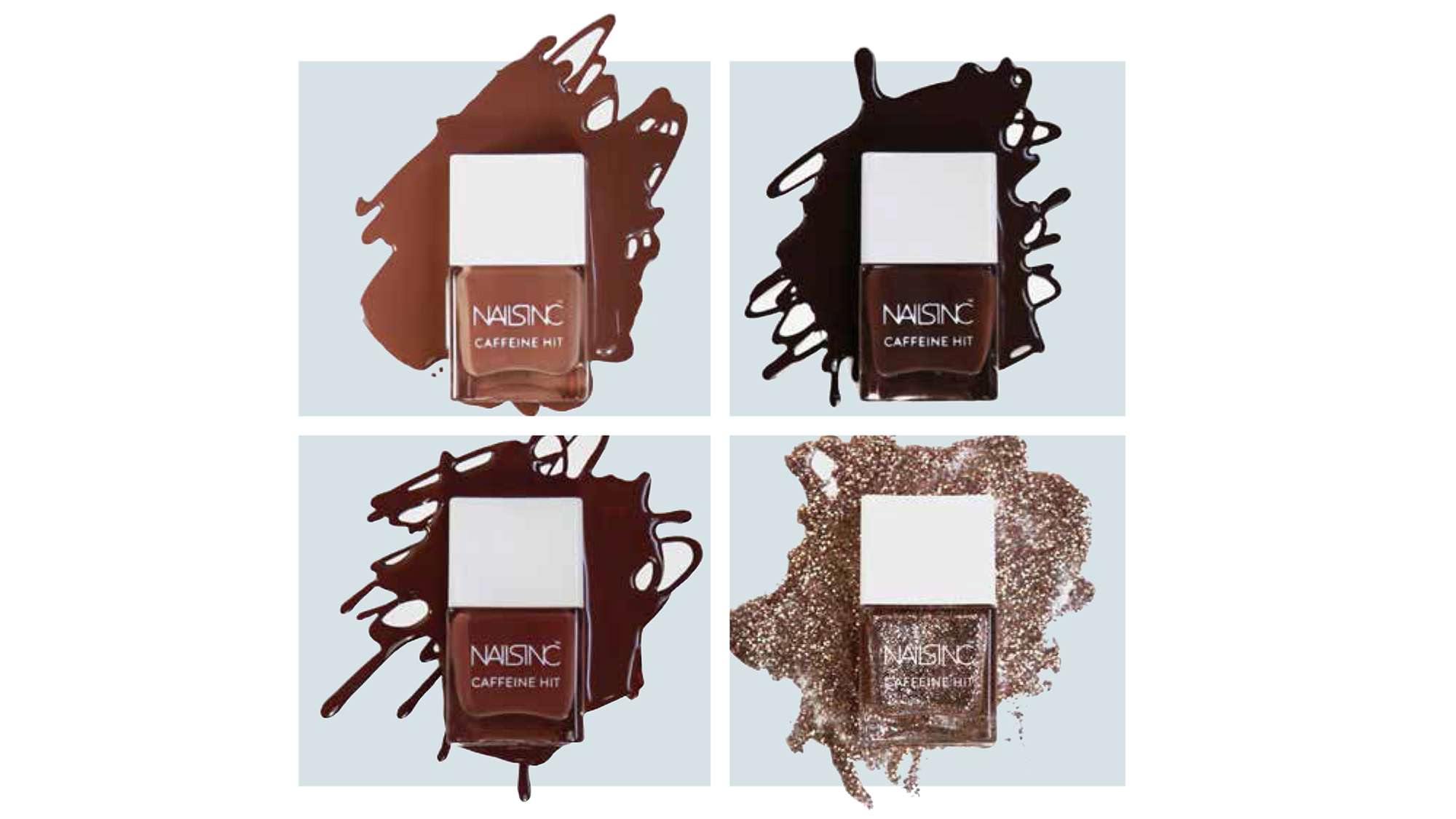 20 off the Caffeine Hit collection at nailsinc.com