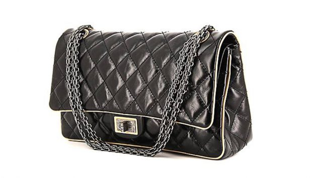 Shop now  CHANEL 2.55 HANDBAG IN BLACK QUILTED LEATHER AND BEIGE LEATHER  for £3,040 from Collector Square 80fc8d54fc