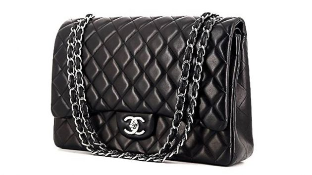 8ed91b931416 The Quilted Classic. Shop now: CHANEL SHOULDER BAG IN BLUE QUILTED LEATHER  ...