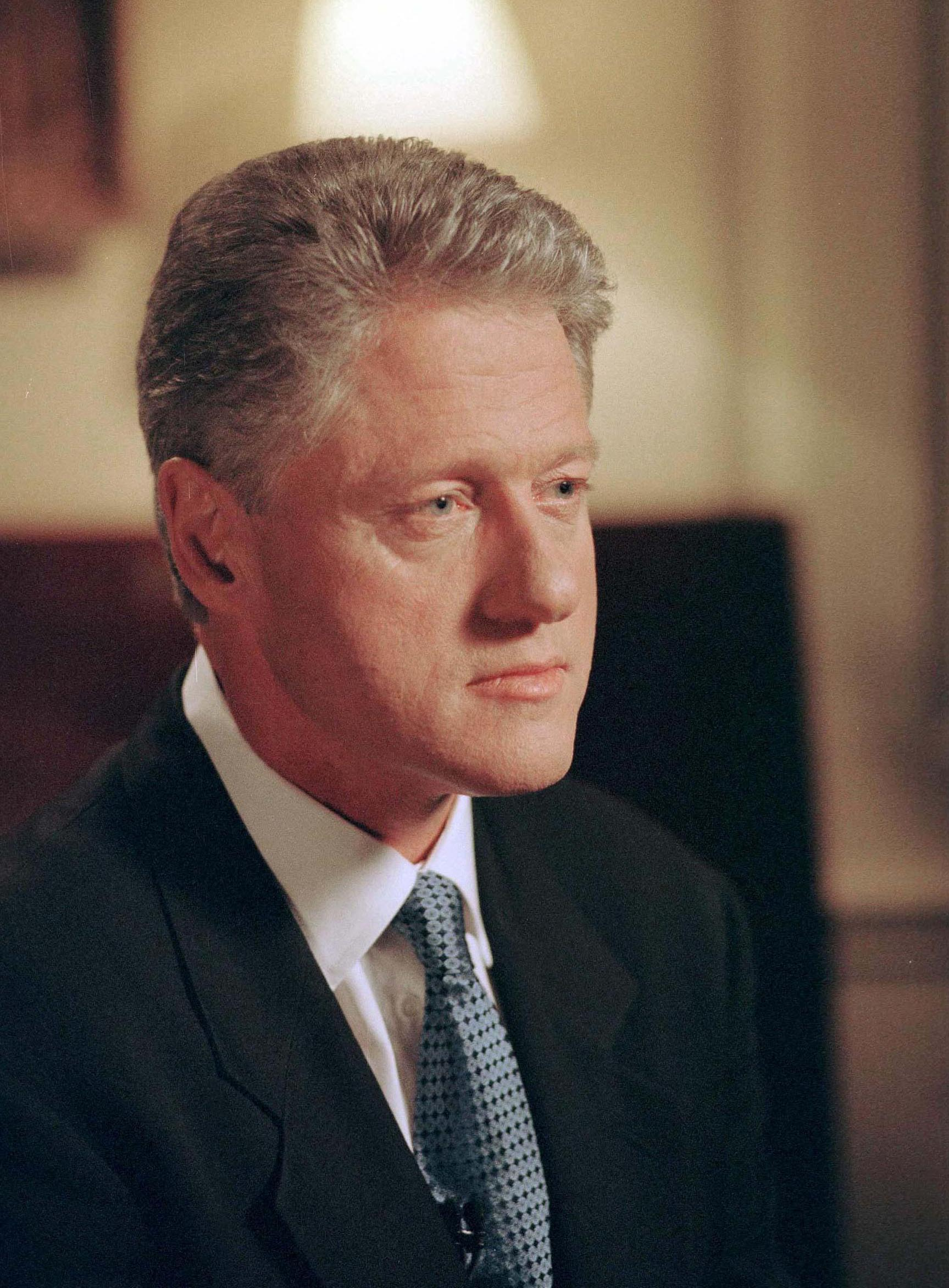 Bill Clinton before being impeached in 1998