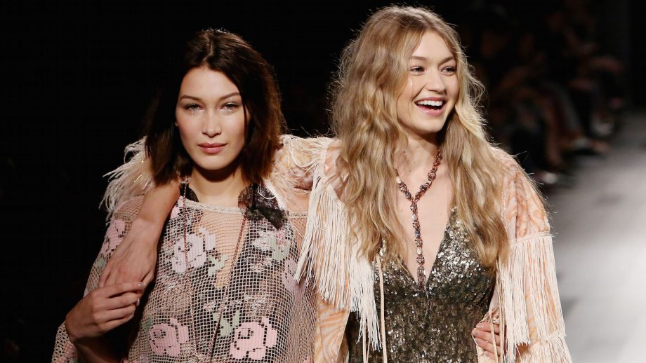 gigi and bella hadid at fashion week