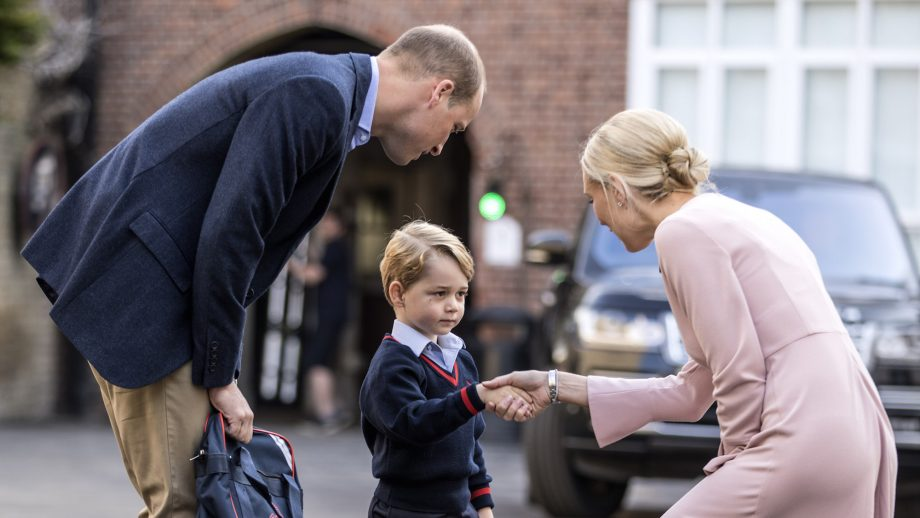 Prince William apparently works out with the mothers from Prince George's school