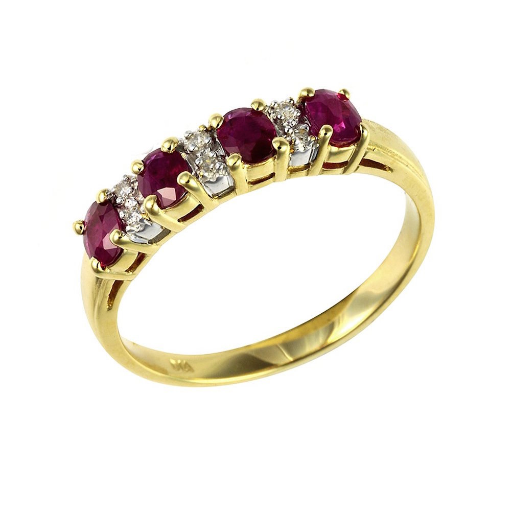 black friday engagement ring sales for an ivy gems 9ct yellow gold ruby and diamond ring
