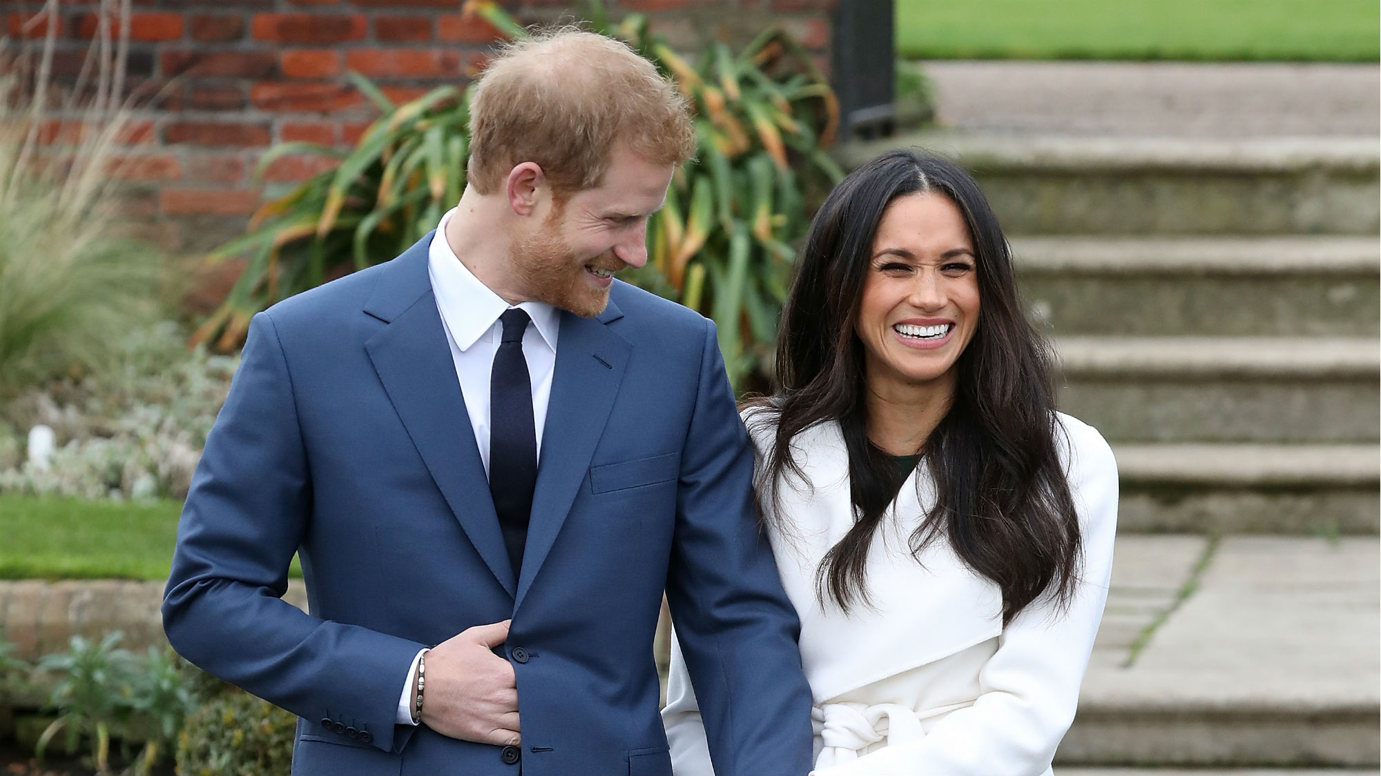Meghan Markle white engagement coat