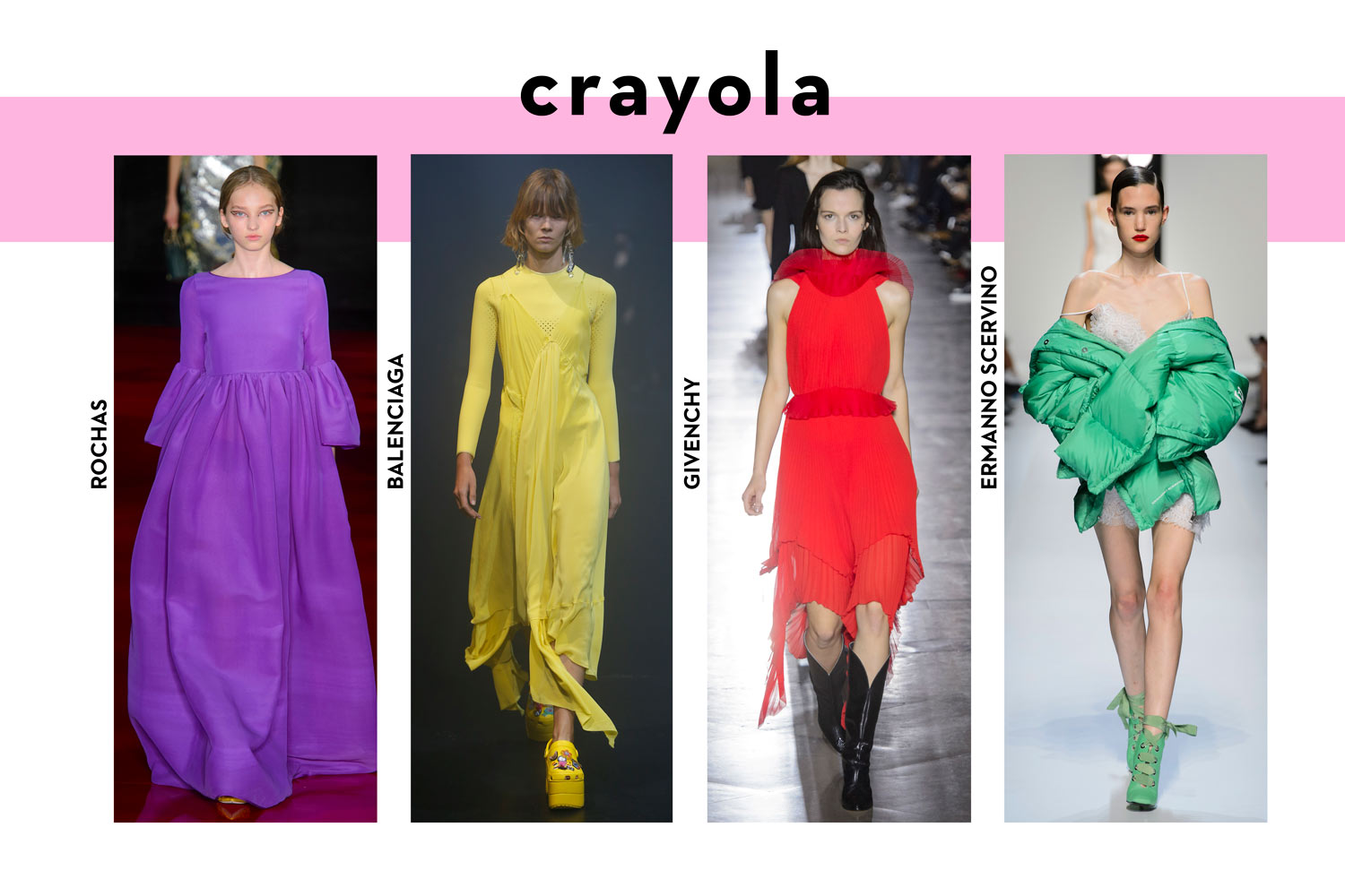 Summer fashion trends 2018 crayola colours