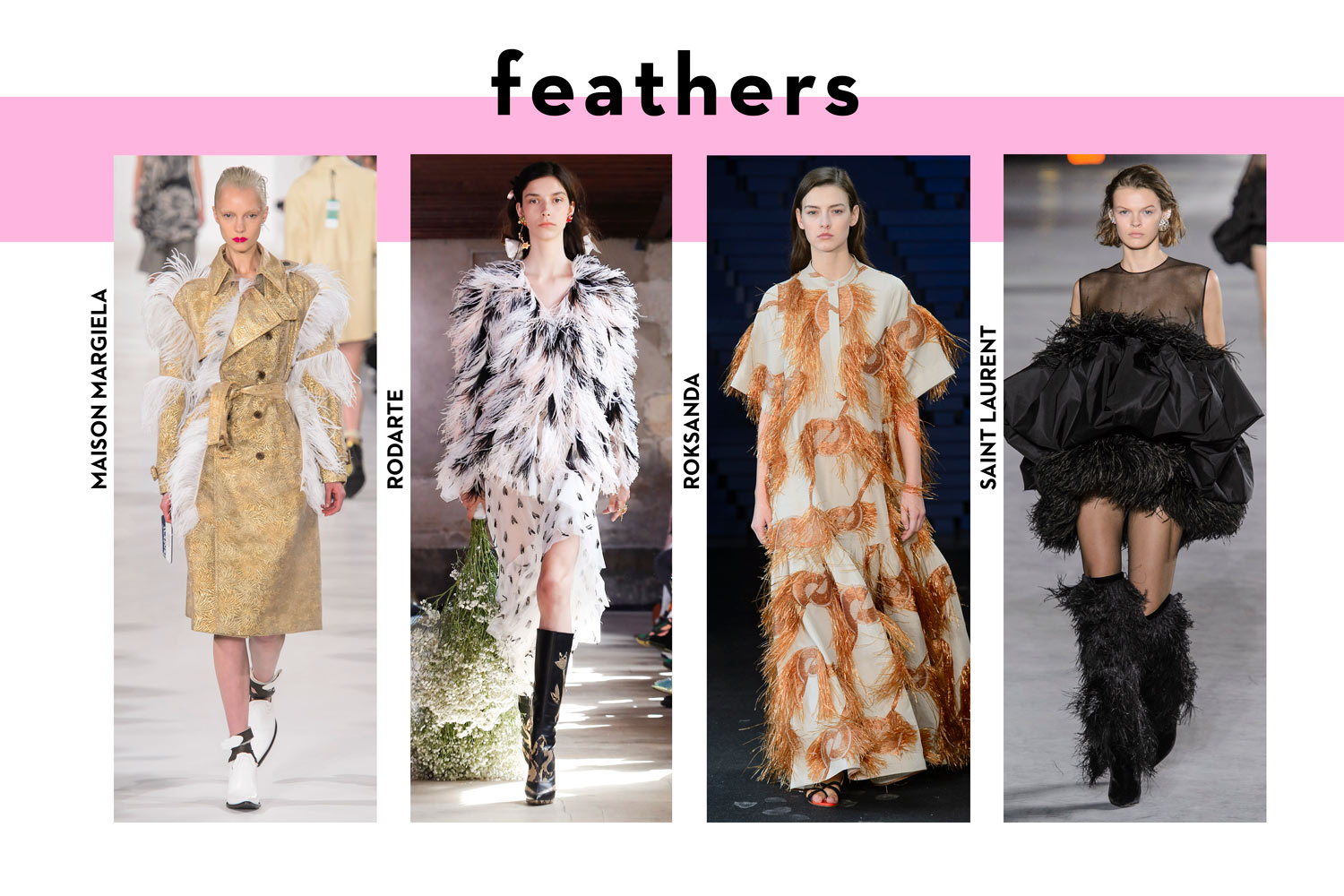 Summer fashion trends 2018 feather clothes