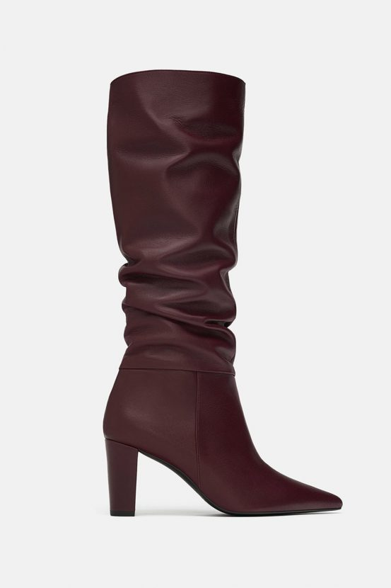 a68b9dd1e433 Shop now  HIGH-HEEL LEATHER BOOTS for £99.99 from ZARA
