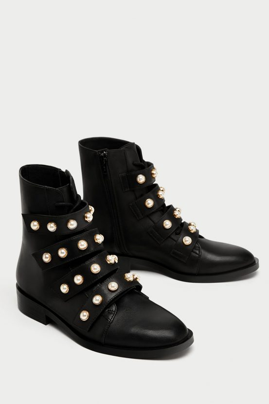 2d87466bc98 These Zara pearl biker boots are what your January needs (and they ...