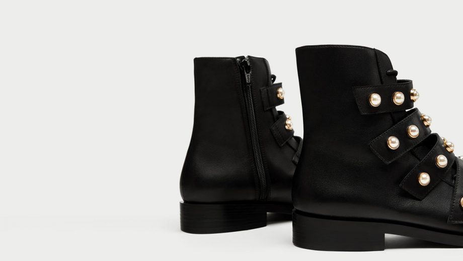2a0e05f7a5b These Zara pearl biker boots are what your January needs (and they're in  the sale)