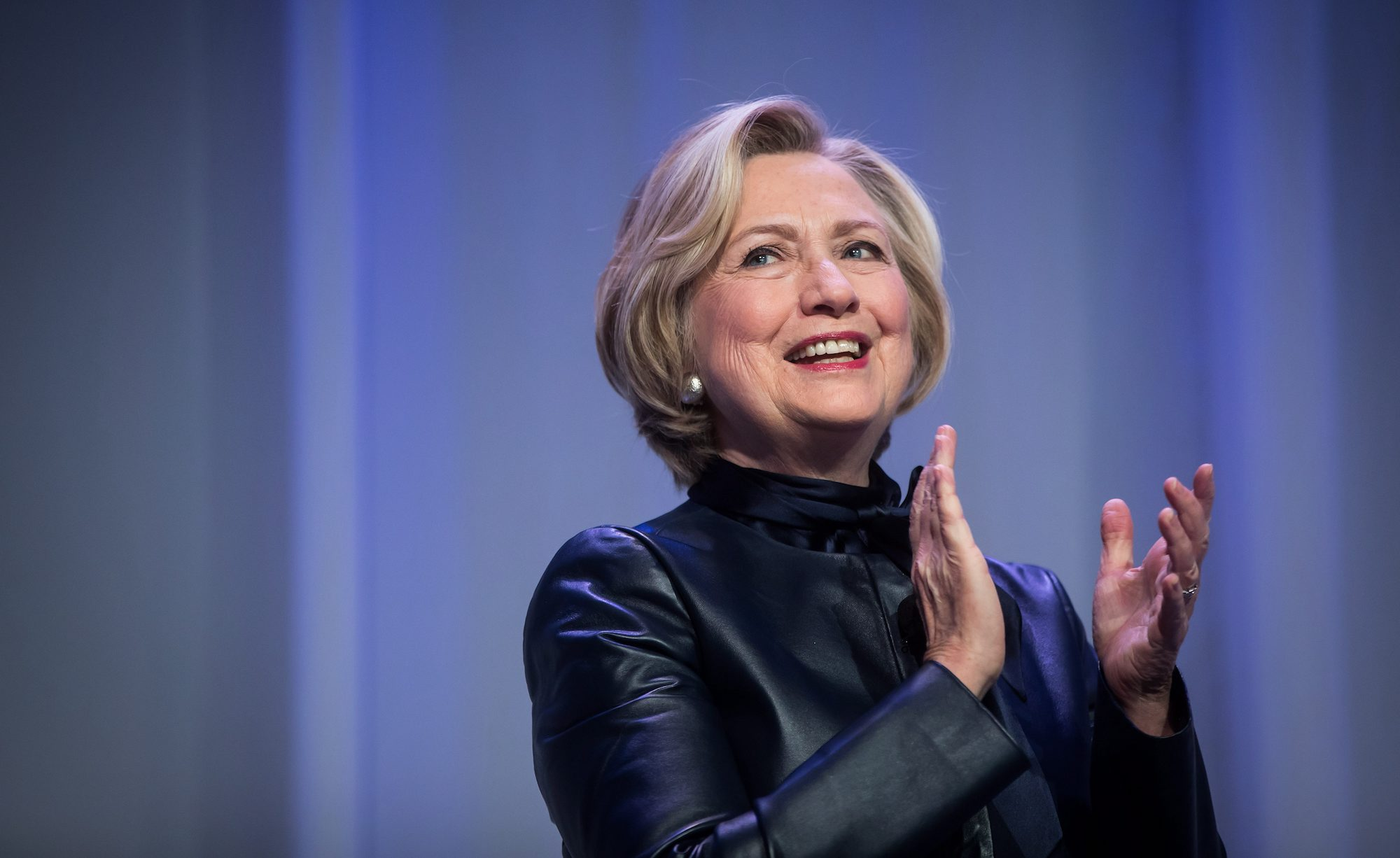 Hillary Clinton is urging women to make their voices heard