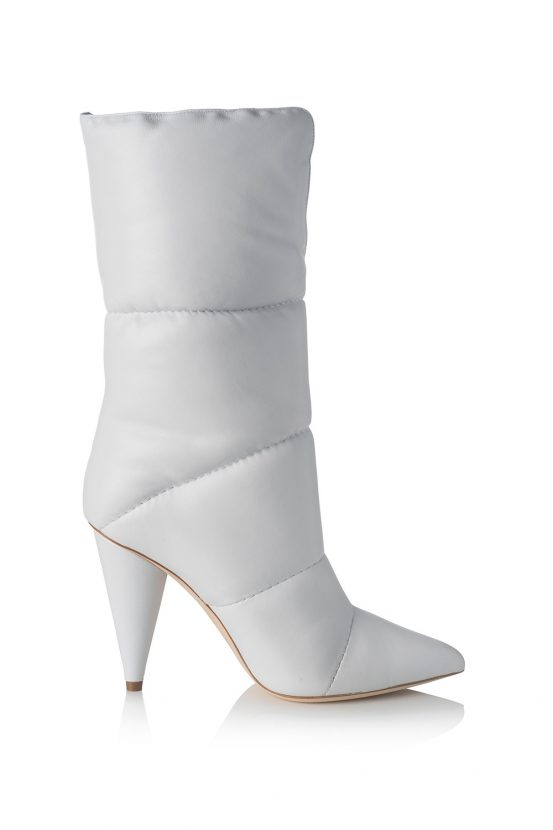 a883d226a2a3 Shop now  Off-White C O Jimmy Choo 100 Elisabeth tulle and satin knee boots  for £1
