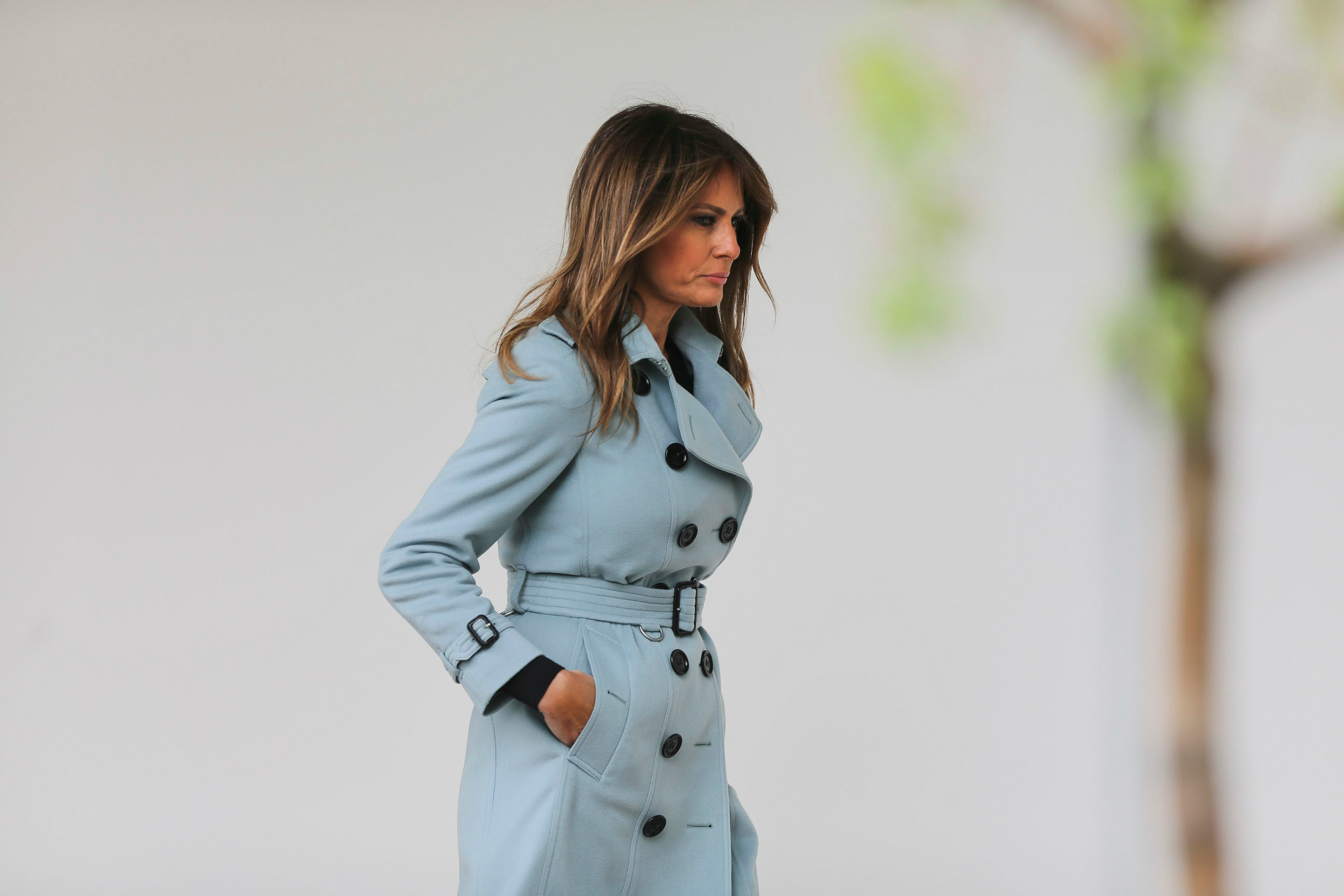 These recent photographs of Melania Trump are going viral for a very surprising reason