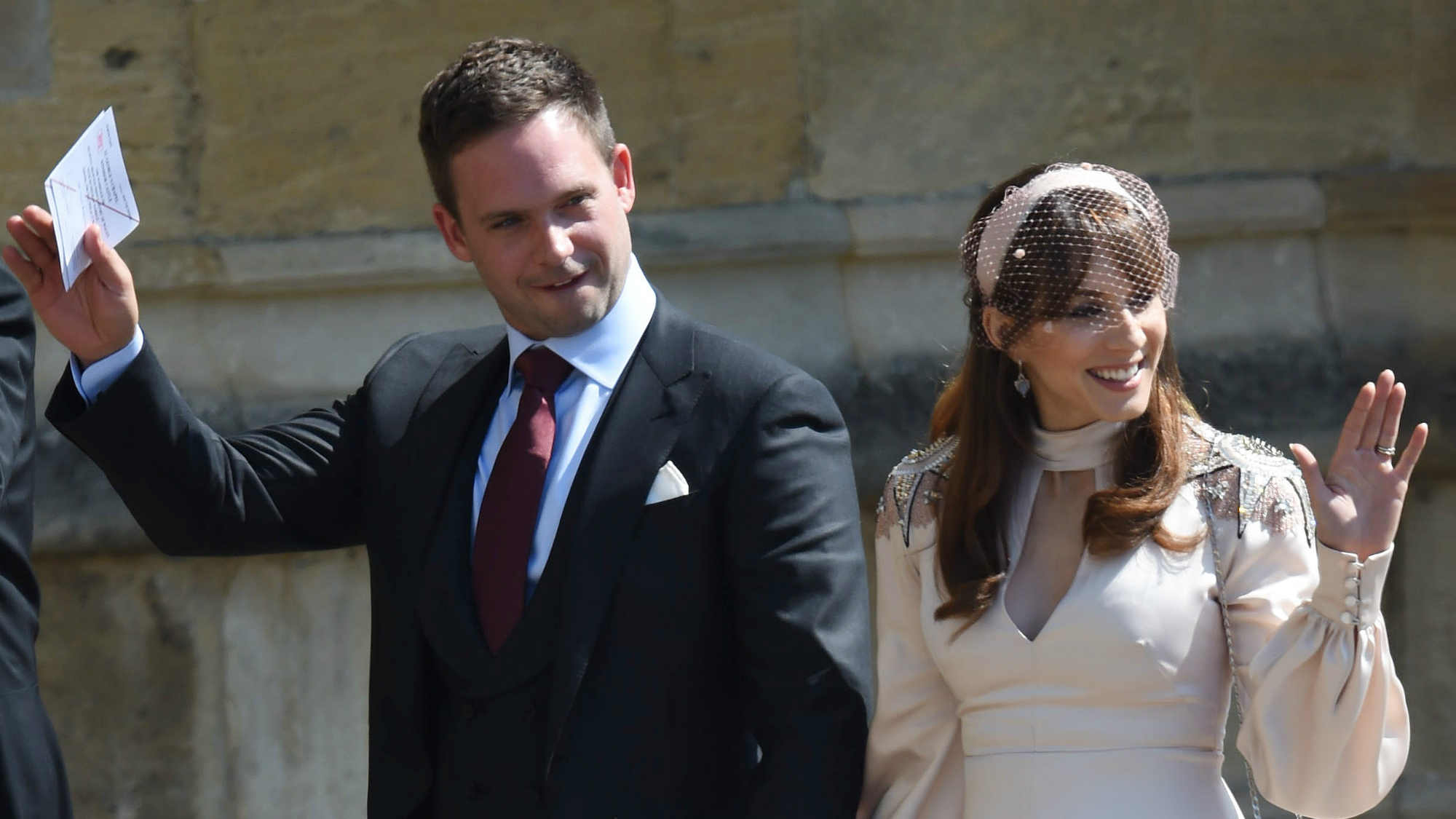 Meghans suits co star patrick j adams has apologised for the royal meghans suits co star patrick j adams has apologised for the royal wedding body shaming incident thecheapjerseys Gallery