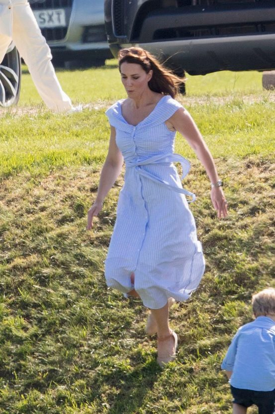 edb67a47235 Kate Middleton just wore another £40 Zara dress to the polo