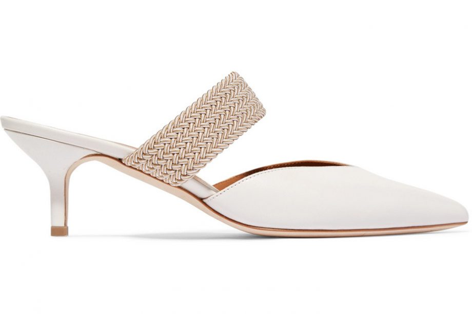 54eab1f9f7572 MALONE SOULIERS Maisie cord-trimmed leather mules, £475 at NET-A-PORTER.  Buy it now! wedding shoes