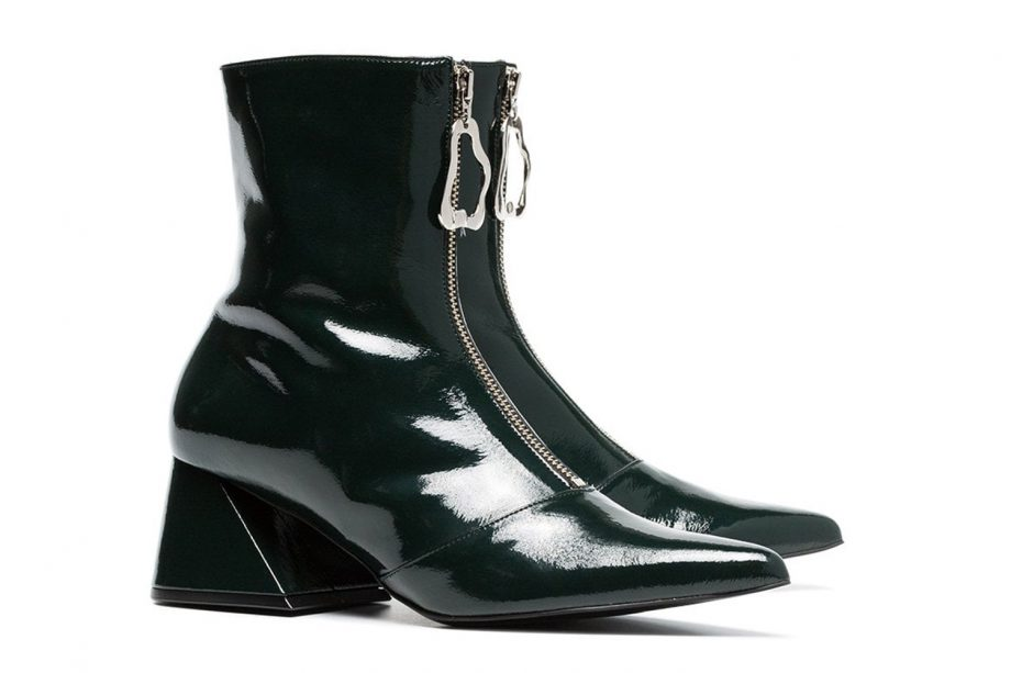 c68ebac2cc1fd Yuul Yie Green 60 zipped patent leather ankle boots, £350 at FARFETCH