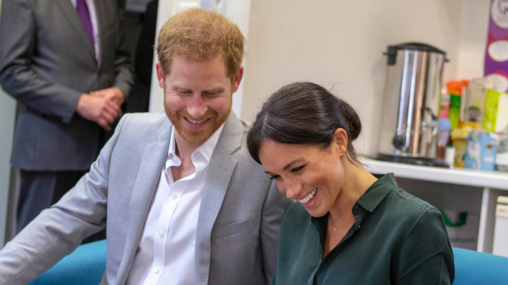 Meghan Markle talks about Prince Harry becoming a dad and it's too cute