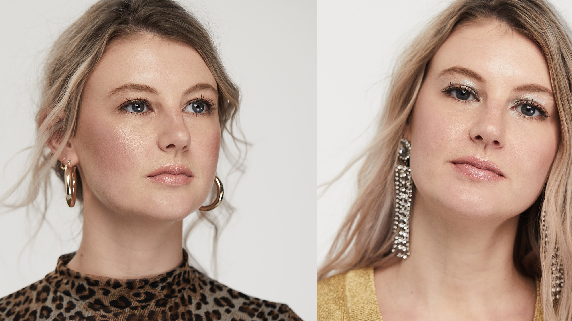 Party makeup: two looks that show there's a grown up way to glow this Christmas