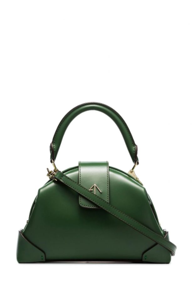64f6950ae84 Manu Atelier Jade Green Demi Top Handle Leather Handbag, £425 at Browns.  Buy it now! best designer handbags
