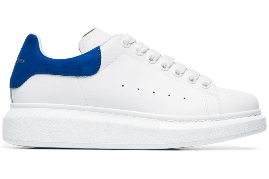 fa6974bac078 ALEXANDER MCQUEEN White chunky blue tab sneakers