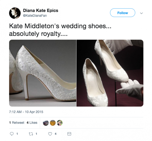 466f88d808c We ve finally been given a glimpse of Kate Middleton s wedding shoes