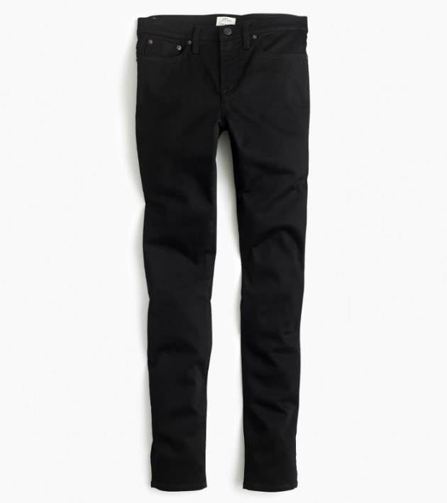 c897ef5c4f1 Shop now  8″ stretchy toothpick jean in true black for £110 from J.Crew