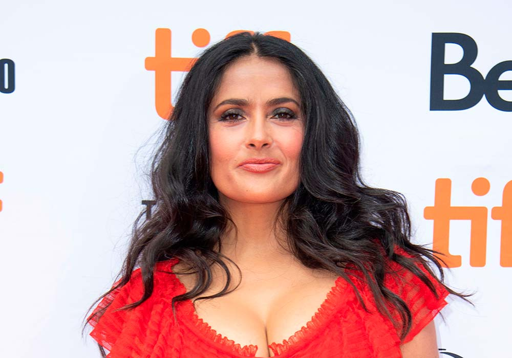 hairstyles for square faces Salma Hayek