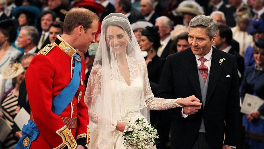 This is what William said to Kate's dad after he walked her down the aisle
