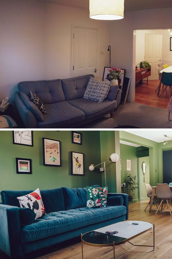Living Room Decorating Ideas: Before and After Pictures