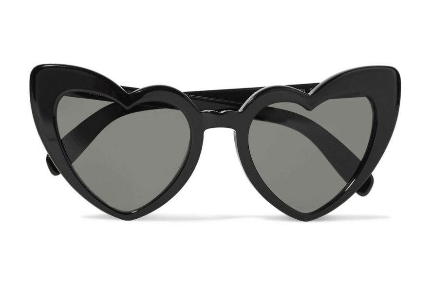 5a301e5ea0a5 SAINT LAURENT Loulou heart-shaped acetate sunglasses
