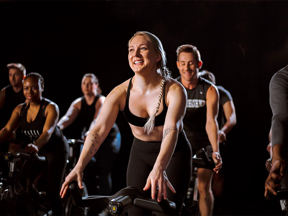 The SoulCycle studio in action