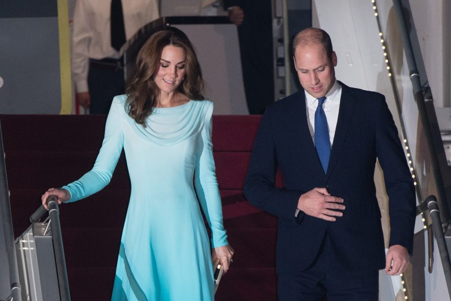 Where are Prince Louis, Princess Charlotte and Prince George during the Duke and Duchess' tour?