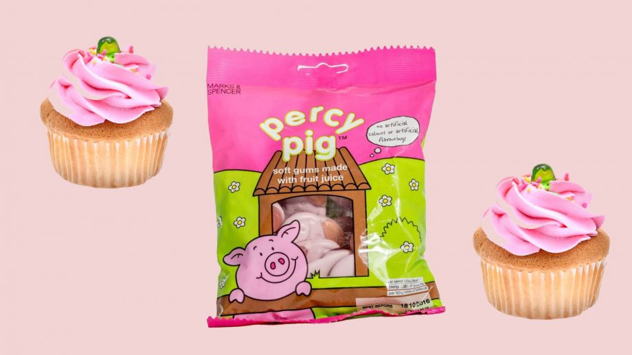 percy pig muffins