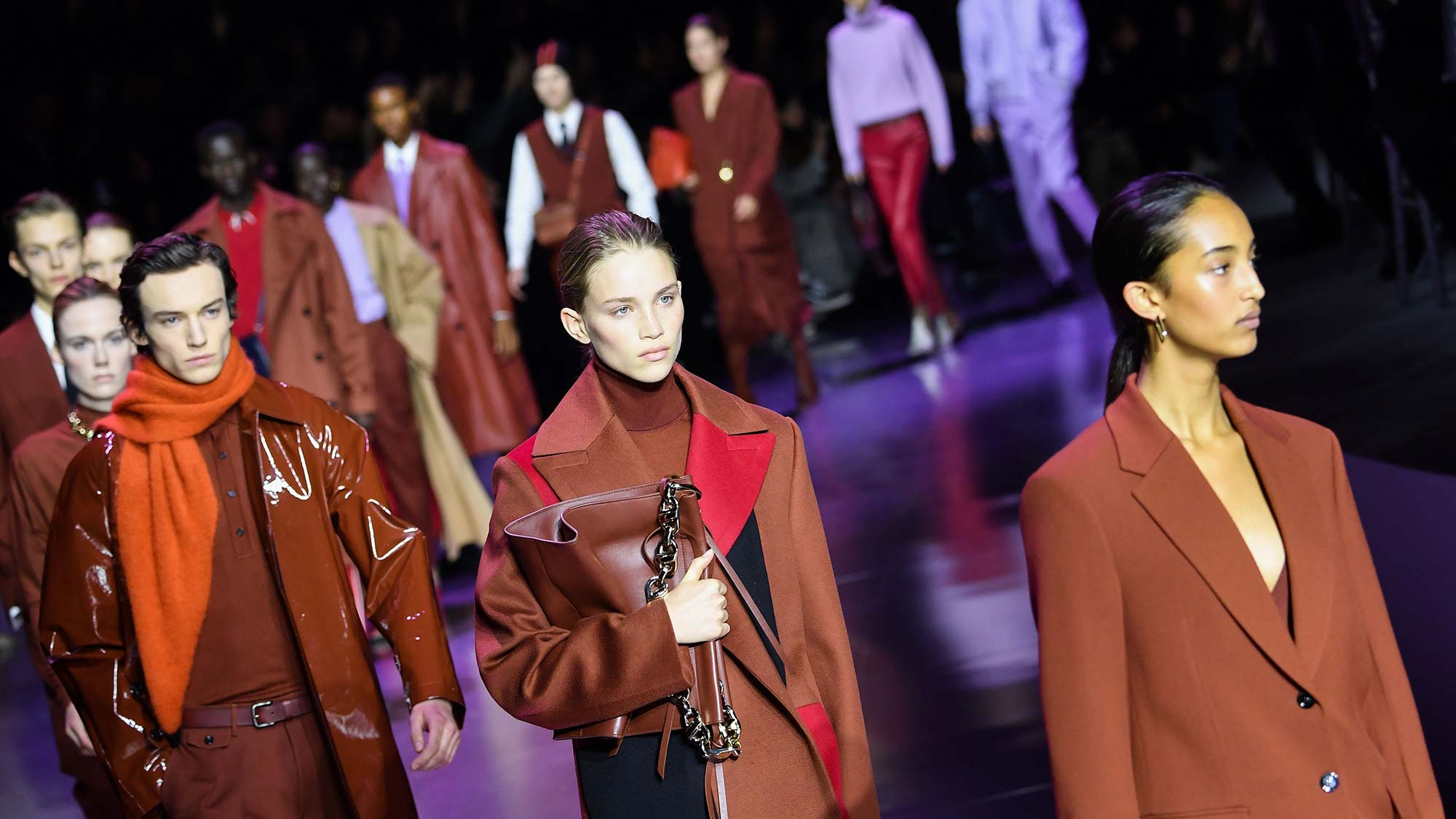 Boss makes a case for lilac at Milan Fashion Week   Marie Claire