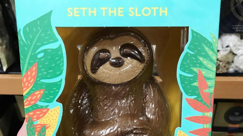 M&S chocolate Easter sloth