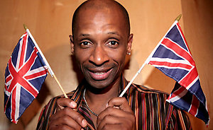 Andy Abraham in a west London recording studio as he prepares his UK Eurovision entry.
