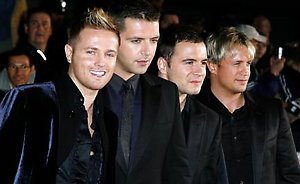 Westlife arriving at the Daily Mirror Pride of Britain Awards 2007, London Television Centre, South Bank, London.