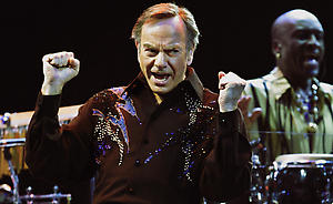 Singer Neil Diamond performs, Thursday, Aug. 18, 2005, at Madison Square Garden in New York during his world tour. The 64 year-old recording artist has sold more than 120 million albums worldwide.(AP Photo/Kathy Willens)
