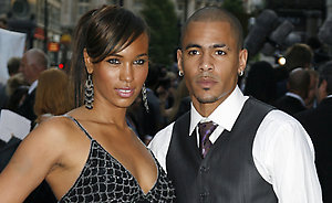 Javine Hylton and Harvey arriving for the UK Premiere of 'Fantastic Four, Rise of the Silver Surfer,' at the Vue Cinema, Leicester Square, in central London.
