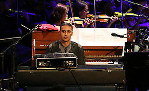 Nitin Sawney performs during the BBC Proms season at the Royal Albert Hall in central London.
